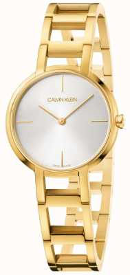Calvin Klein Le signore applaudono l'orologio in oro giallo K8N23546