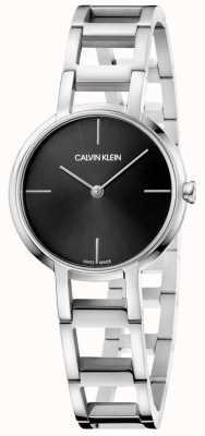 Calvin Klein Orologio da donna con quadrante nero in acciaio inossidabile K8N23141