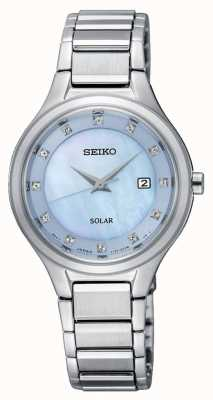 Seiko Bracciale in argento solare da donna coutura quadrante azzurro SUT351P9