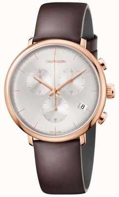 Calvin Klein Cronografo da uomo con cassa in oro rosa a mezzogiorno K8M276G6
