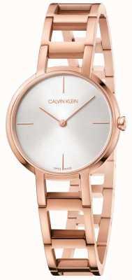 Calvin Klein Orologio da donna con cinturino in argento placcato oro rosa K8N23646