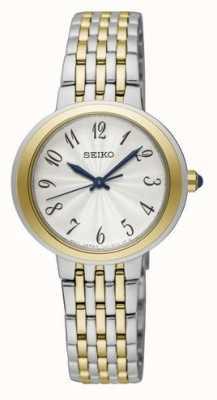 Seiko Orologio da donna a due tonalità in argento e oro SRZ506P1