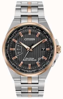 Citizen Men's world perpetuo in acciaio inossidabile e oro rosa ip CB0166-54H