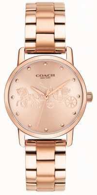 Coach Bracciale da donna in oro rosa con cassa e orologio 14502977