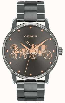 Coach Custodia da donna con placcatura in oro nera e cinturino in oro rosa 14502924
