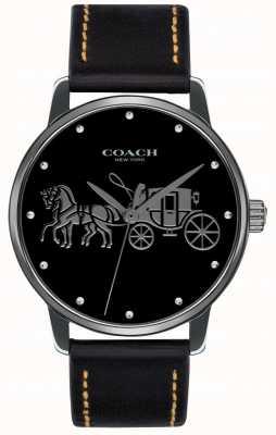 Coach Custodia nera da donna con cinturino in pelle nera 14502974