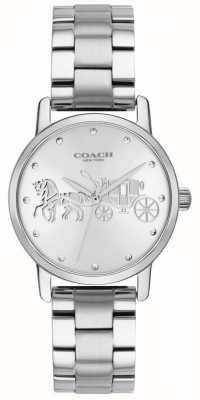 Coach Cassa e cinturino nero da donna in acciaio inossidabile 14502975