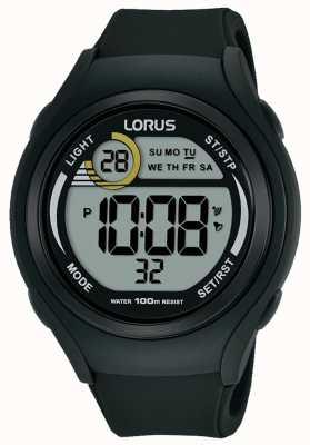 Lorus Orologio sportivo digitale in gomma lorus unisex nero R2373LX9