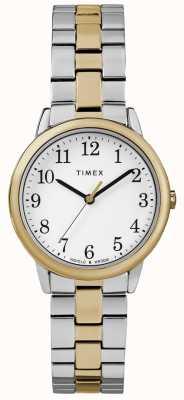 Timex Orologio da donna in acciaio inossidabile da 30 mm facile da lettura TW2R58800