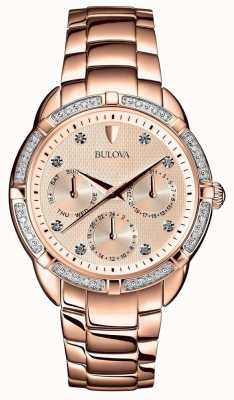 Bulova Quadrante in oro rosa con diamanti 98W178