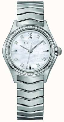 EBEL Orologio da donna in madreperla con quarzo 30mm con diamanti incastonati 1216194