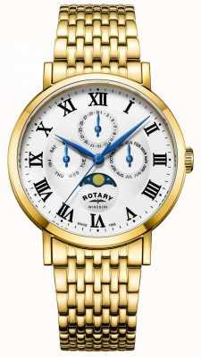 Rotary Bracciale da uomo con cassa in oro placcato oro GB05328/01