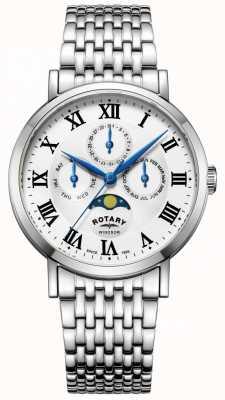 Rotary Bracciale da uomo con cassa in argento a forma di orologio da uomo GB05325/01