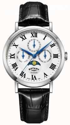 Rotary Orologio da uomo con cinturino in pelle nero GS05325/01