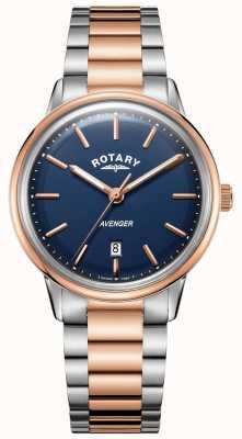 Rotary Orologio da uomo con cinturino bicolore quadrante blu GB05342/05