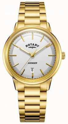 Rotary Orologio da uomo con cinturino in oro tono oro GB05343/02