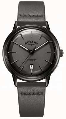 Rotary Orologio da uomo in pelle con cinturini in pelle nera GS05345/20