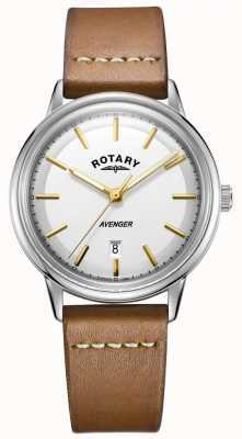Rotary Orologio da uomo con cinturino in pelle color argento GS05340/02