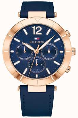 Tommy Hilfiger Trappola in silicone blu con datario giorno donna orologio chloe 1781881