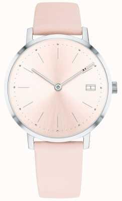 Tommy Hilfiger Cinturino in pelle rosa con orologio pippa da donna 1781925