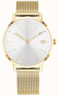 Tommy Hilfiger Cinturino in maglia tono oro con orologio pippa da donna 1781927