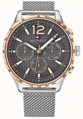 Tommy Hilfiger Orologio da uomo con cinturino in acciaio cromato con orologio cronografo gavin 1791466