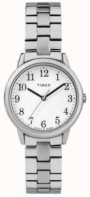 Timex Quadrante bianco da donna in acciaio inossidabile da 31 mm TW2R58700