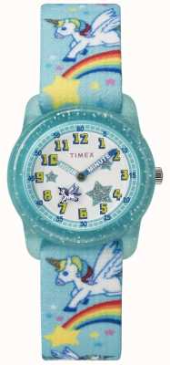 Timex Unicorno arcobaleno teal analogico 28mm della gioventù TW7C256004E