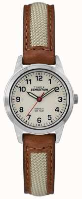 Timex Quadrante naturale mini in pelle marrone TW4B11900