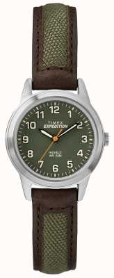 Timex Quadrante verde in pelle mini brow Field TW4B12000
