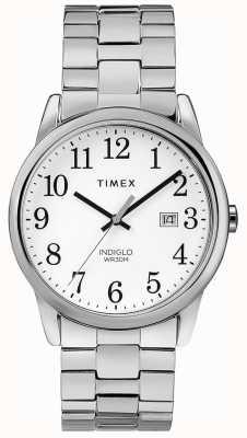 Timex Quadrante bianco quadrante in acciaio inossidabile da 38 mm espandibile TW2R58400