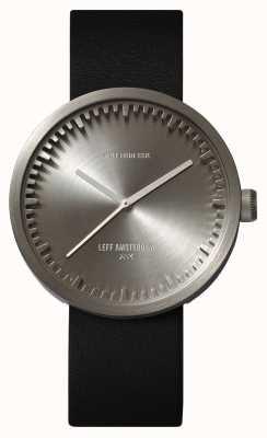 Leff Amsterdam Orologio tube d42 cassa in acciaio cinturino in pelle nera LT72001