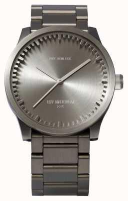 Leff Amsterdam Bracciale in acciaio con cassa in acciaio s38 orologio tubolare LT71101