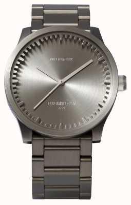 Leff Amsterdam Bracciale in acciaio con cassa in acciaio s42 orologio tubolare LT72101