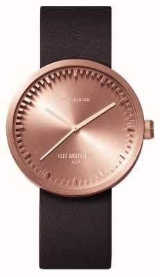 Leff Amsterdam Cinturino in pelle marrone D38 cassa in oro rosa LT71032