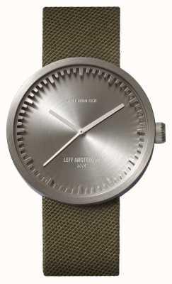 Leff Amsterdam Cinturino in cordura con cinturino in cordura verde acciaio D42 LT72004