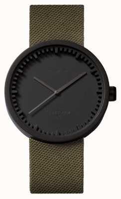Leff Amsterdam Orologio tubolare d42 cinturino nero in cordura con cinturino nero LT72014