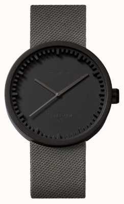 Leff Amsterdam Orologio tubolare d42 cinturino nero in cordura con cinturino nero LT72015