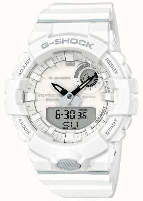 Casio Cinturino bianco con tracker fitness G-shock bluetooth GBA-800-7AER