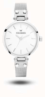 Mockberg Bracciale Elise petite in acciaio inossidabile con quadrante bianco MO402