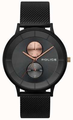 Police Orologio da uomo in maglia nera berkeley 15402JSB/61MM