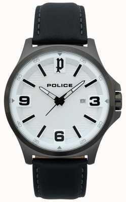 Police Orologio da uomo clan in pelle nera 15384JSU/04