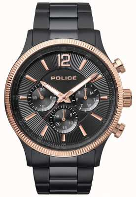 Police Orologio da polso maschile placcato in oro bicolore 15302JSBR/02M