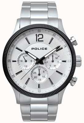 Police Uomo feral acciaio inossidabile e orologio nero 15302JSTB/01M
