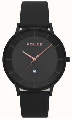 Police Orologio da donna con quadrante nero in pelle nera 15400JSB/02