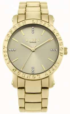Lipsy Quadrante in oro da donna, orologio con cinturino in oro LP566