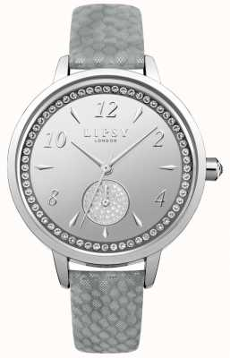 Lipsy Orologio da donna con quadrante argentato cinturino grigio LP581