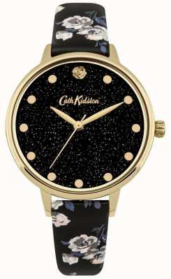 Cath Kidston Orologio da donna con cinturino in velluto a coste color oro CKL056BG