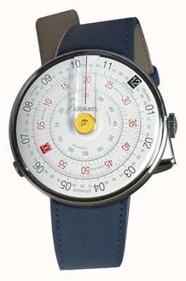 Klokers Klok 01 cinturino giallo blu per orologio testa indaco blu KLOK-01-D1+KLINK-01-MC3