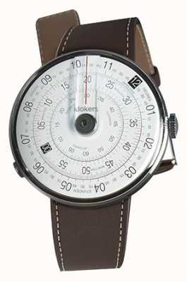 Klokers Klok 01 cinturino nero marrone testa di orologio nero KLOK-01-D2+KLINK-01-MC4